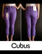 Cubus xs 34 rurki Fioletowe spodnie jeansowe jeans...