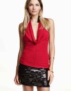 Czerwona bluzka z odkrytymi plecami Noa Fashion xs...