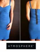 Kobaltowa sukienka z zamkiem Atmosphere 34 xs 36 S...