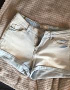 jeansowe spodenki zara...
