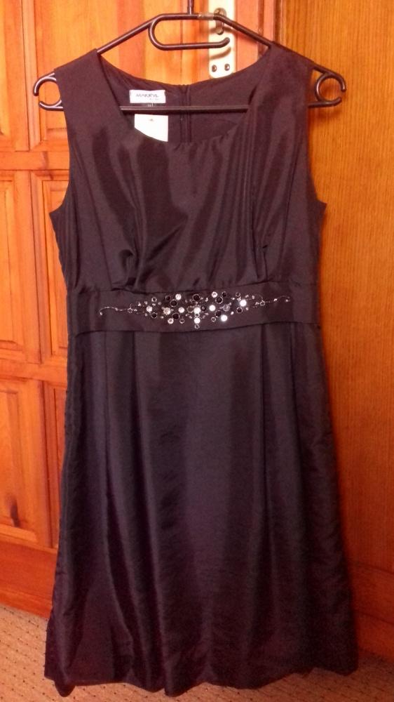 Suknie i sukienki Czarna wizytowa sukienka 38