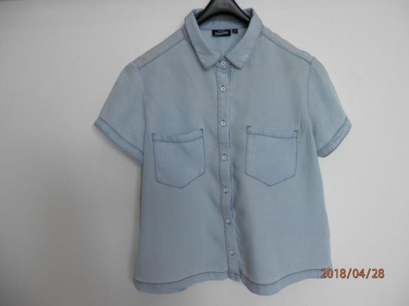 Koszula Bluzka Dżinsowa Błękitna Lekka KappAhl S...