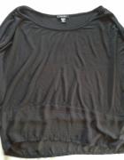 AMISU Koszulka bluzka czarna tiul 40 M L...