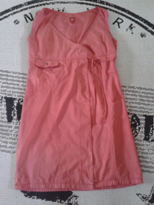 Sukienka TIFFI 40 L czerwona PRET A PORTER wiązana...