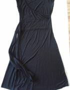Orsay Sukienka czarna wiązana dekolt 40 L