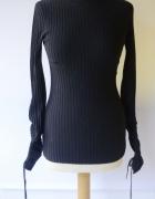 Sweter H&M S 36 Prążki Granatowy Wiązany Granat...