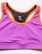 Stanik Sportowy H&M Sport S 36 Fioletowy Fitness...
