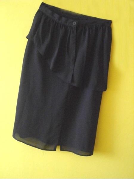 Spódnice spódnica czarna z wysokim stanem z falbanka