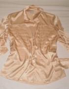 Piękna elegancka kobieca francuska złota koszula