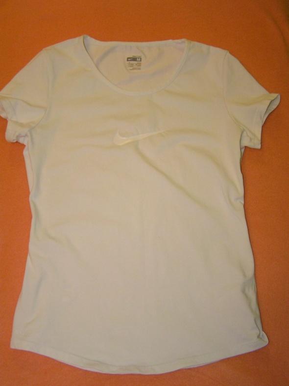 Biała sportowa bluzka t shirt NIKE FIT DRY