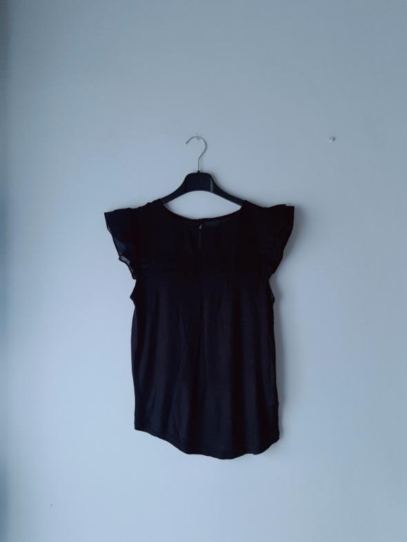 Bluzki Czarna bluzeczka krótki rękaw S