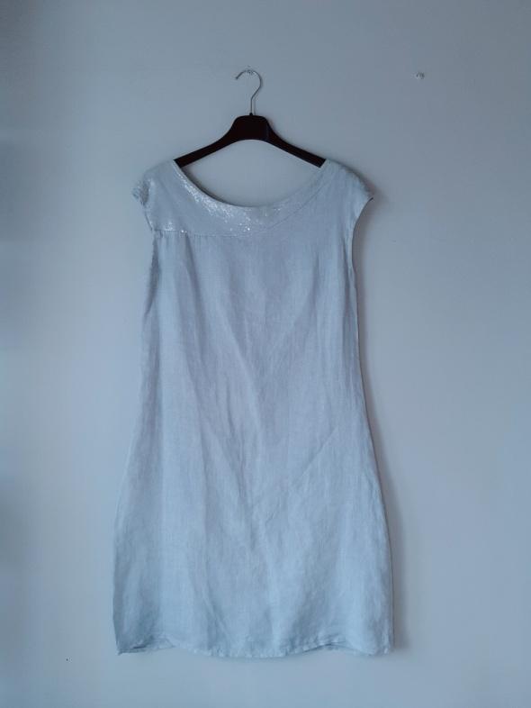 Szara sukienka grubsze ramiączka L