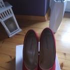 Czerwone klasyczne koturny 39 koi couture