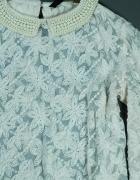 Zara koronkowa bluzka z perełkami na jedno ramię 36...