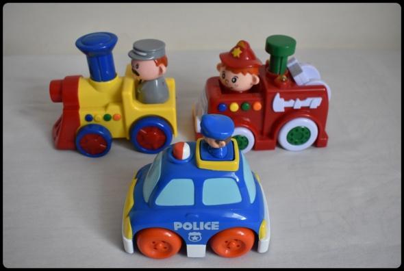 Zabawki Smiki zabawki jeżdżące i grające zestaw 3 sztuk pojazdy