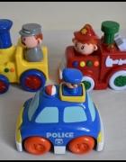 Smiki zabawki jeżdżące i grające zestaw 3 sztuk pojazdy...