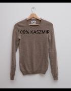 Kaszmirowy sweter milutki mięciutki S...