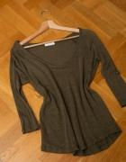 Dzianinowa bluzeczka Zara khaki sweterek cienki...