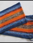 MARCONI kolorowy szal szalik na zimę...