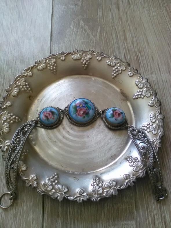 Rosyjska bransoletka z porcelaną