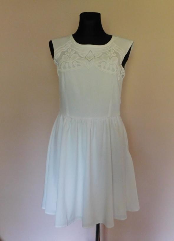 Oasis biała sukienka midi 38 40...