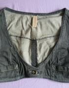 VERO MODA szara jeansowa kamizelka bolerko roz 32...