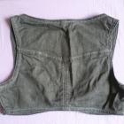 VERO MODA szara jeansowa kamizelka bolerko roz 32