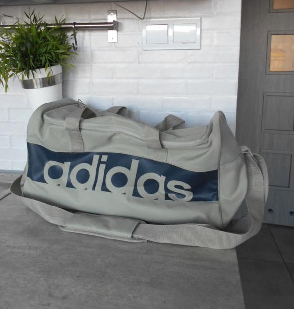 Adidas szara torba sportowa retro...