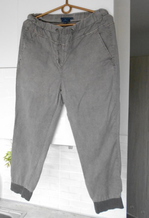 Tom Tailor szare spodnie baggy lyocell luźne ściągacze alladynk...