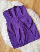 Fioletowa sukienka bombka gorsetowa New Look 40 42...