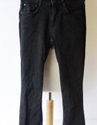 Spodnie Zara S 36 Proste Nogawki Postrzępione Czarne...
