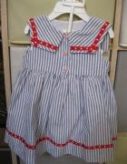 nowa sukienka LAURA ASHLEY 80 marynarska