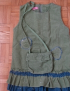 Sukienka sztruksowa z torebką...