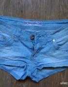 jeansowe spodenki tanio...