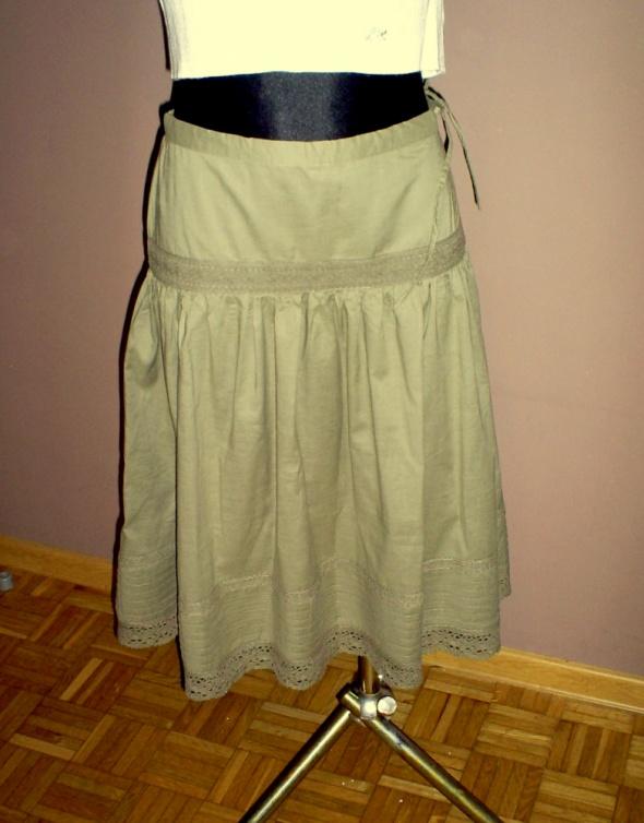Spódnice Nowa szeroka spódnica ciemnozielona