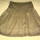 Nowa szeroka spódnica ciemnozielona