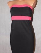 Czarna dopasowana sukienka Amisu Rozmiar 34...