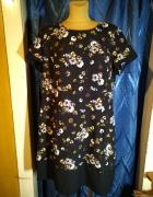 Czarna sukienka w kwiaty George Rozmiar 44...
