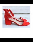 Czerwone sandały Resrved...