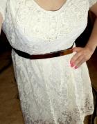 Nowa koronkowa sukienka ecru