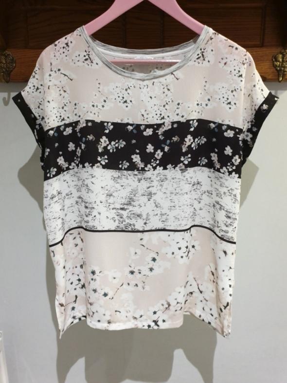 Bluzki Zara Collection bluzka w kwiatowy wzór r M