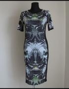 Dopasowana sukienka las paprocie River Island rozmiar M i L...