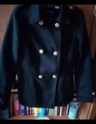Czarny płaszcz top secret jesienno zimowy