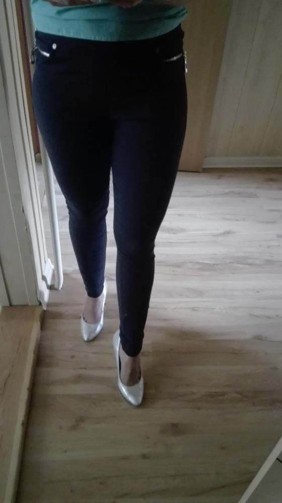 Spodnie Spodnie legginsy granatowe