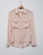 Bershka piękna bluzka pudrowa cielista vintage...