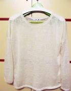 bluzka kremowa z długim rękawem Sinsay XL...