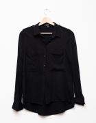 Bershka czarna koszula lejąca wiskoza...