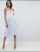 Sukienka rozkloszowana midi koktajlowa rozmiar M...