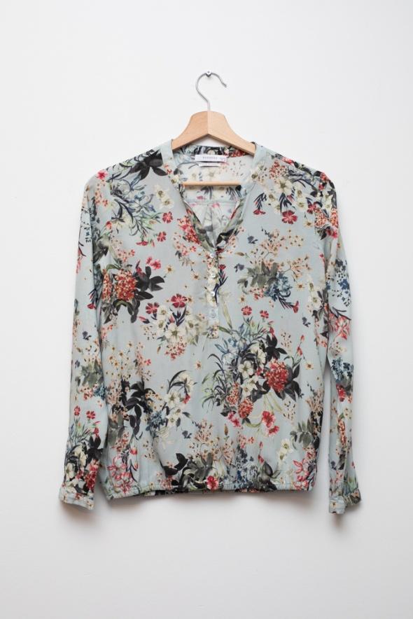 Reserved bluzka koszula wiskoza błękitna elegancka...