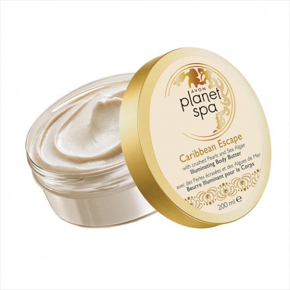 Rozświetlające masło do ciała z pyłem perłowym i algami Avon...
